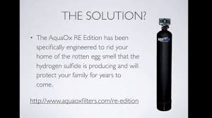 How To Remove Sulfur Smell From Water Water Smells Like Rotten Eggs Removing Hydrogen Sulfide