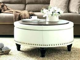 black leather ottoman coffee table square ottomans white tray round storage oxford tuft