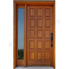 Solid Wooden Panel Door With Frame Hpd Solid Wood Doors Al - Hardwood exterior doors and frames