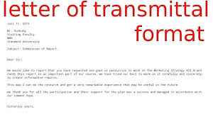Report Writing Letter Of Transmittal Dissertation On Example