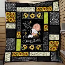 <b>SOFTBATFY</b> Sunflower Quilt Print All Season Quilt For Bed Soft ...