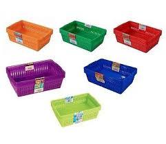 office storage baskets. Plastic-Storage-Baskets-Small-Medium-Large-Kitchen-Home- Office Storage Baskets