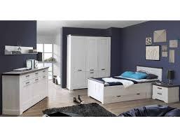 Schlafzimmer Gaston 61 Weiß Grau 6 Teilig Jugendzimmer Schneeeiche