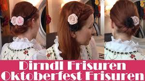 Einfache Dirndl Frisuren Oktoberfest Frisuren Youtube