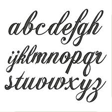 Letters In Design Sd260 Chase Font Small Letters