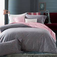 grey flowers duvet cover set 100 egyptian cotton pink solid color bed sheets pilowcase queen king size bedding sets bed linens funky duvet covers velvet