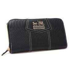 Coach Accordion Zip In Croc Embossed Large Black Wallets CCQ   Shopping on  line   Pinterest   Black wallet, Large black and Emboss