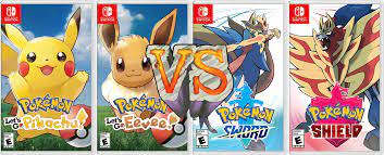 Game Vs. Game - Pokemon Let's Go Pikachu/Eevee Vs. Pokemon Sword and  Shield: Which is Better? - Sergie Reviews