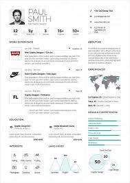 Elegant One Page Resume Template Modern Design Models