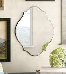frameless oval scalloped beveled wall