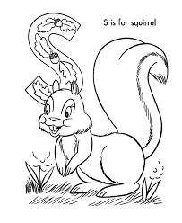 Small Picture ABC Alphabet Coloring Sheets ABC Squirrel Animals coloring