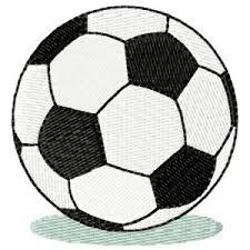 Výšivka Fotbalový Míč Vyšívání Náš Koníček