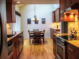 galley kitchen remodel. Kitchen:An Interesting Galley Kitchen Remodel Design Including Dining Set, Chandelier, Pictures,