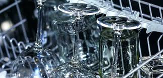 hard water stains on glass glassware sparkling clean glasses in dishwasher door how to get off etched