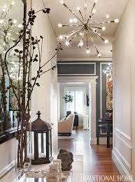 eclectic hallway with spark 24 light chrome hanging chandelier high within for ceiling remodel 15