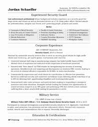 Security Officer Resume Sample Elegant Resume For Security Guard New