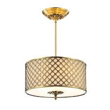 cwi lighting gloria 3 light french gold chandelier with beige shade