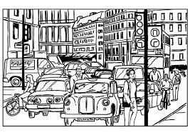 Kleurplaat Verkeer In De Stad Afb 7540 Images