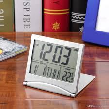 mt 033 calendar alarm clock display date time temperature flexible mini desk digital lcd thermometer cover calendar alarm clock display date time