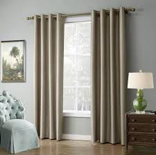Living Room Curtains And Drapes Piece Solid Color Window Curtains For Living Room Bedroom Blackout