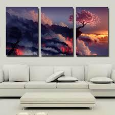 com gardenia art magic cherry tree in volcanoes canvas prints no frame modern wall art paintings artwork for room decoration 16x24 inch