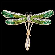 2019 green enamel dragonfly insects brooches for women and men alloy metal banquet weddings brooches pins gifts from luney 24 73 dhgate