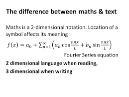 the difference between maths text