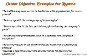 Resumes Objective Examples Resume Cv Cover Letter For Teacher Sample