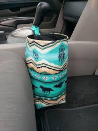 car trash bag turquoise car