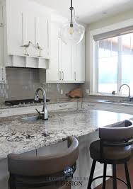 Kylie M Interiors Edesign Cloud White Kitchen Cabinets Granite