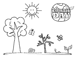 Small Picture A Kinds Drawing About Earth Day Coloring Page NetArt