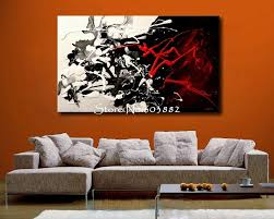 ... Hand Painted Cheap Canvas Wall Art Stuning Painting Decor For Living  Room Abstract Concept Opposite Theme ...