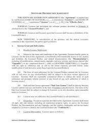 Distribution Agreement Template Free Download Distributor