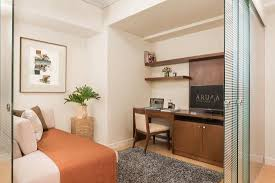 one bedroom with den. aruga at the grove: one bedroom suite - den with