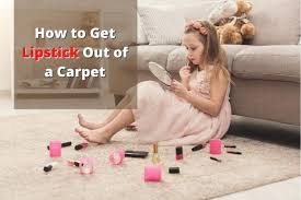 how to get lipstick out of a carpet