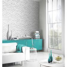 indoor interior design white bricks
