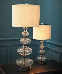 estelle stacked glass base table lamp