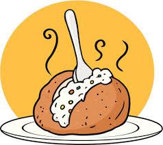 baked potato clip art. Simple Clip Baked Potato Clipart Black And White 21208 Intended Clip Art K