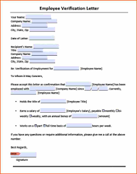 Employment Verification Request Form Template Sample Objective In