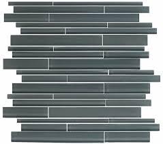 gray linear glass tile