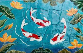 ceramic tile art patterns. Modren Ceramic Susan Beere Ceramic Tile Koi Mural And Art Patterns R