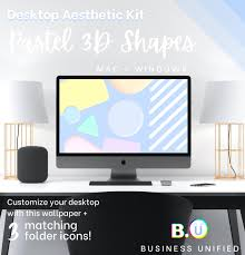 Desktop Kit - Pastel 3D Shapes ...