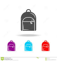 Backpack Graphic Design Backpack Icon Elements Of Education In Multi Colored Icons