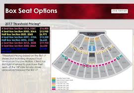 Lakeview Amphitheater Seating Chart Lakeview Amphitheater Vip Box Section Packages Cost Up To