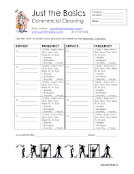 Cleaning Service Checklist Printable Kitchen And Living Space
