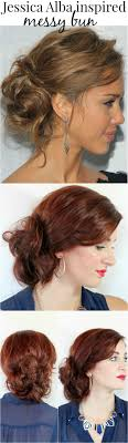 Jessica Alba Updo Hairstyles 27 Best Images About For A Messy Look On Pinterest Updo Easy
