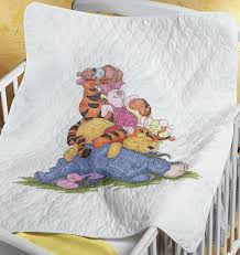 98 best pooh bear images on Pinterest | Cross stitch charts ... & Baby Janlynn Stamped Cross Stitch Kit, by Snoozy Day Quilt - Eeyore, Pooh, Adamdwight.com