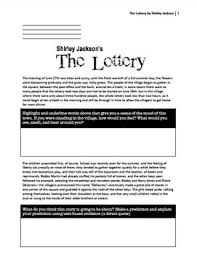 the lottery by shirley jackson high level bloom questions the lottery by shirley jackson high level bloom questions included