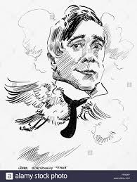 maurice maeterlinck n1862 1949 belgian man of letters caricature c1915 FF93YP