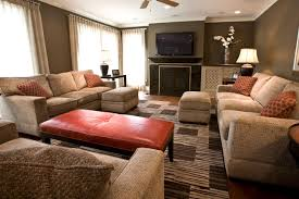 Orange Brown And Gray Living Room